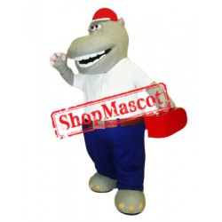 Industrious Hippo Mascot Costume