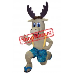 Super Cute Lightweight Moose Mascot Costume