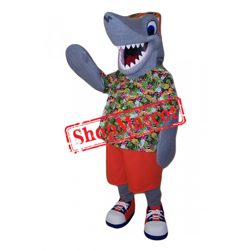 Sport Happy Shark Mascot Costume