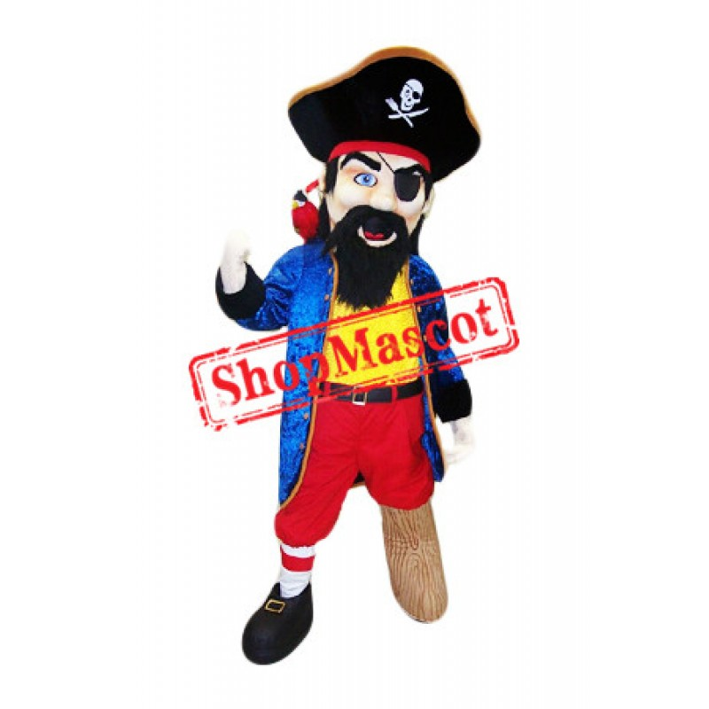 Confident Pirate Mascot Costume