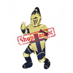 Blue & Yellow Knight Mascot Costume