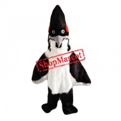 Black & White Roadrunner Mascot Costume
