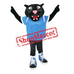 College Sport Black Panther Mascot Costume