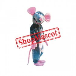 Grey & Pink Mouse Mascot Costume