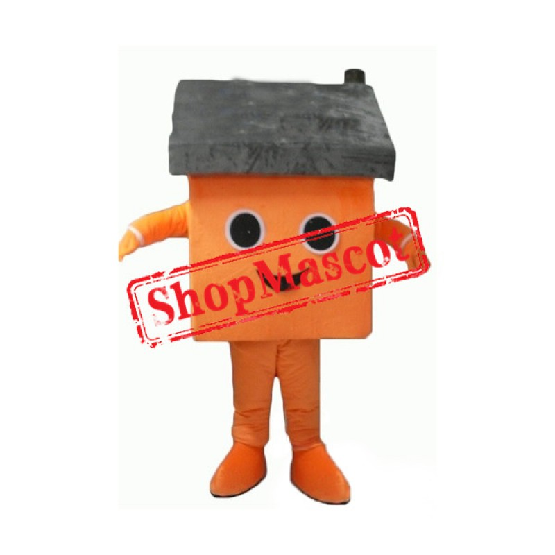 Orange House Mascot Costume
