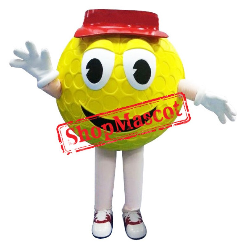 Funny Yellow Golf Ball Mascot Costume