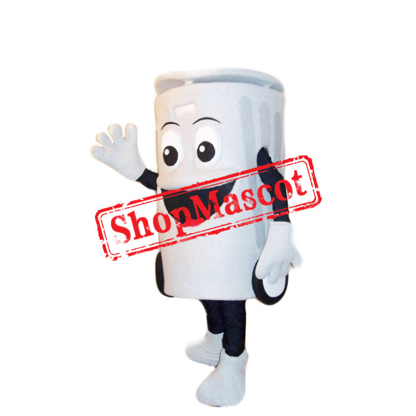 White Recycling Box Mascot Costume