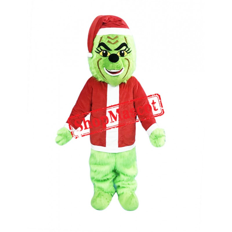 Christmas Grinch Mascot Costume Free Shipping
