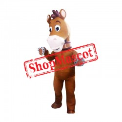 Cartoon Horse Mascot Costume