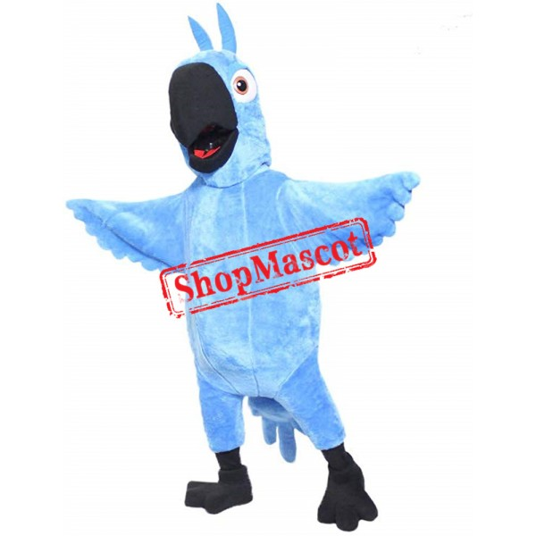 High Quality Blue Parrot Mascot Costume