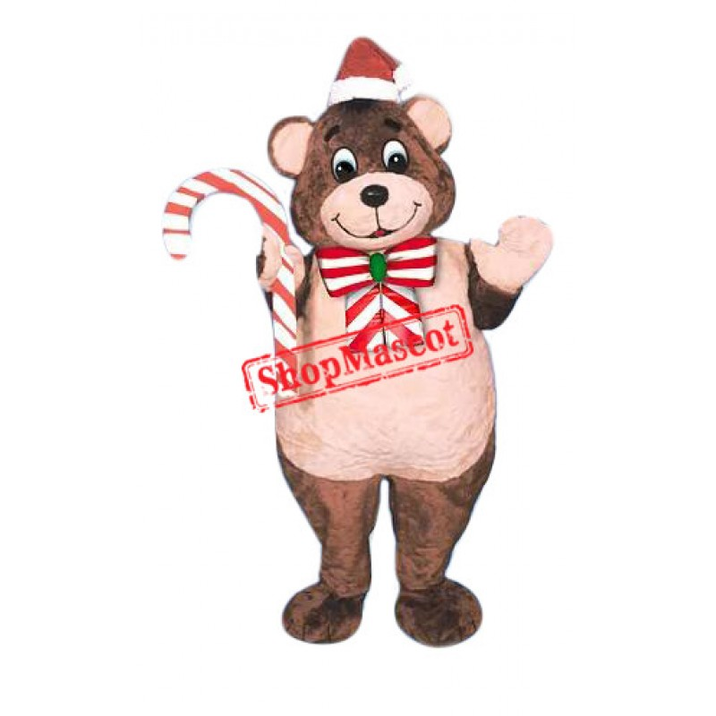 High Quality Christmas Bear Mascot Costume