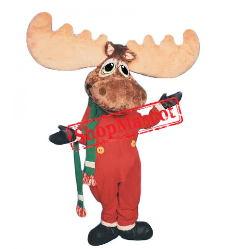 Christmas Moose Mascot Costume Free Shipping