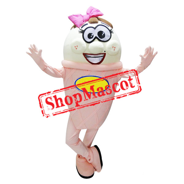 Pink & White Ice Cream Mascot Costume