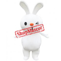 Cartoon White Rabbit Mascot Costume