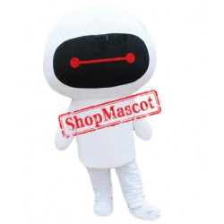 Cheap White Robot Mascot Costume