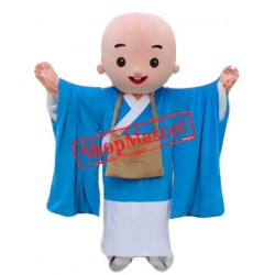 Blue Monk Mascot Costume