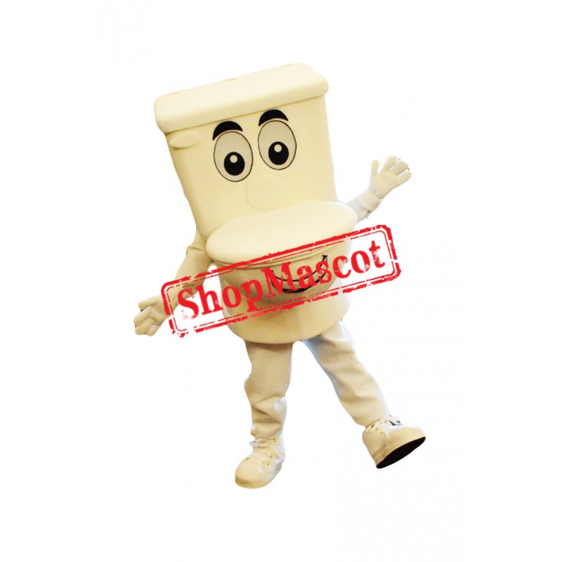 White Toilet Mascot Costume
