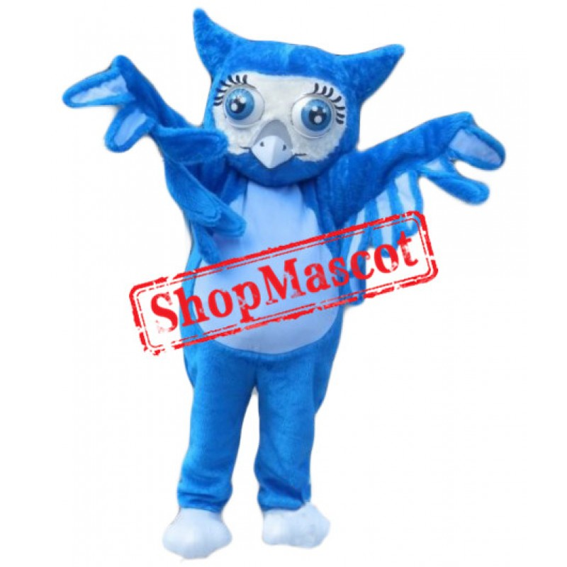 Top Quality Blue Owl Mascot Costume