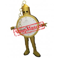 Gold Pocket Watch Mascot Costume