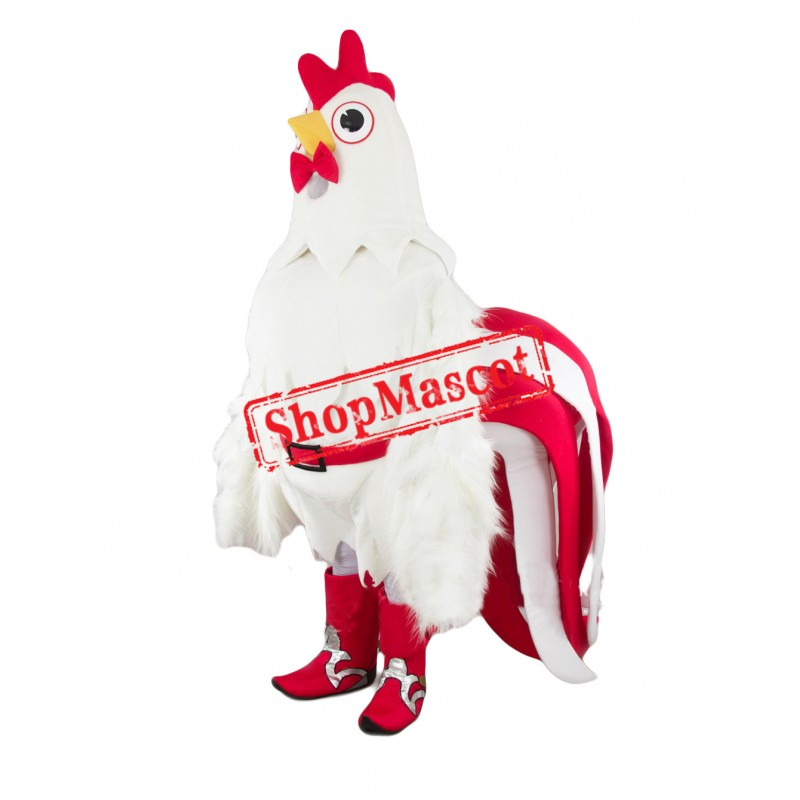 Best Quality White Chicken Mascot Costume