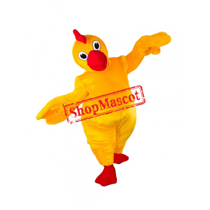 Top Quality Yellow Chicken Mascot Costume
