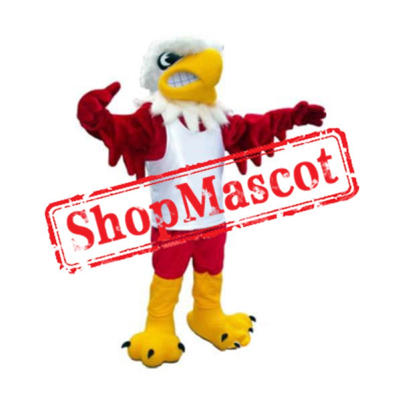 Fierce Red Eagle Mascot Costume