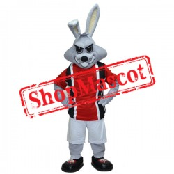 Sport Gray Rabbit Mascot Costume