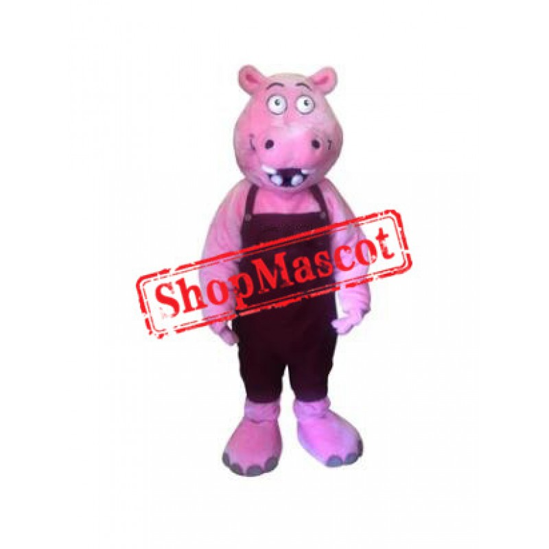 Funny Pink Hippo Mascot Costume