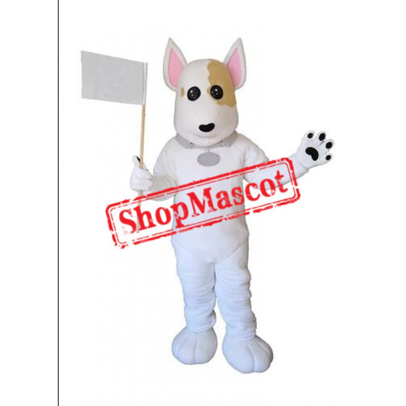 Cute Lightweight White Dog Mascot Costume