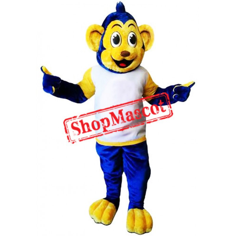 Top Quality Blue Monkey Mascot Costume