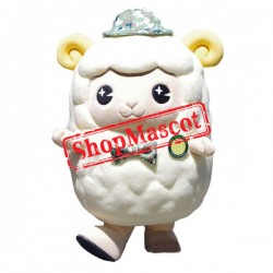 Super Cute White Sheep Mascot Costume