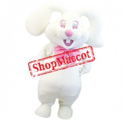 Happy Lightweight White Rabbit Mascot Costume