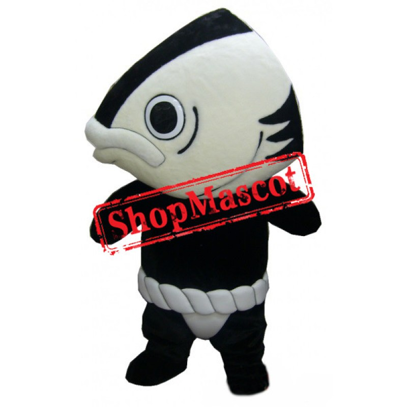 Black & White Fish Mascot Costume