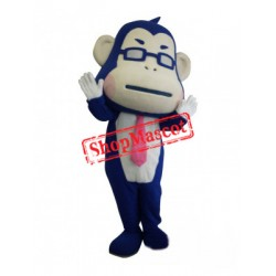 Happy Lightweight Blue Monkey Mascot Costume