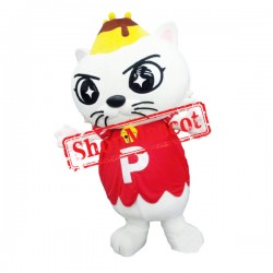 Super Cute Lightweight White Cat Mascot Costume