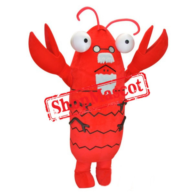 Old Lobster Mascot Costume