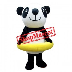 Swimming Panda Mascot Costume