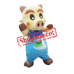 Brown Boar Mascot Costume