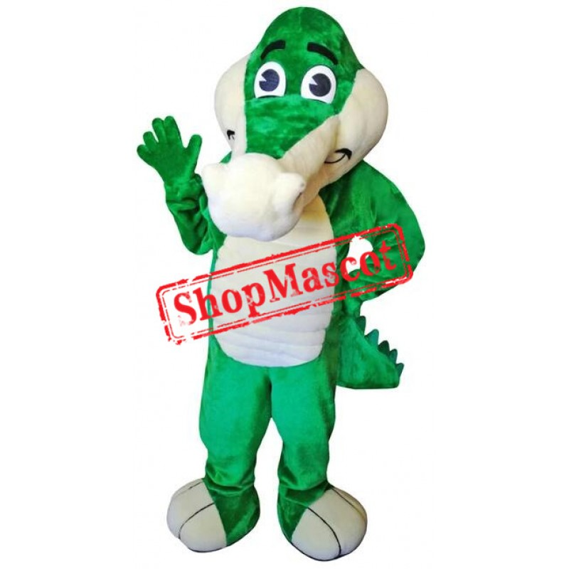 Friendly Lightweight Green Crocodile Mascot Costume