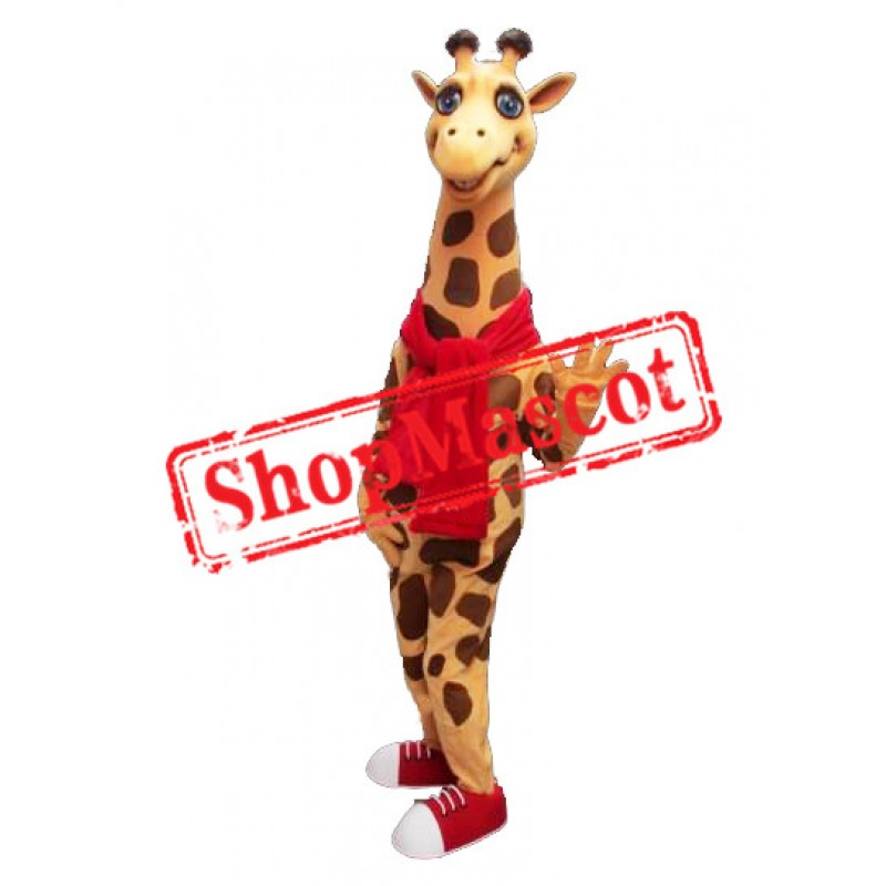 Happy Lightweight Giraffe Mascot Costume