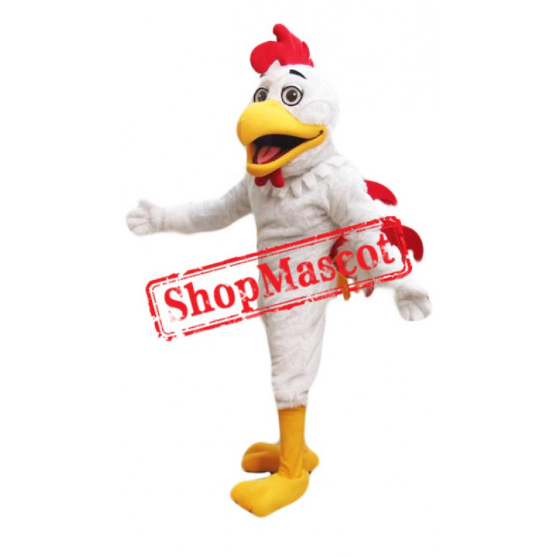 Top Quality Lightweight White Roosters Mascot Costume
