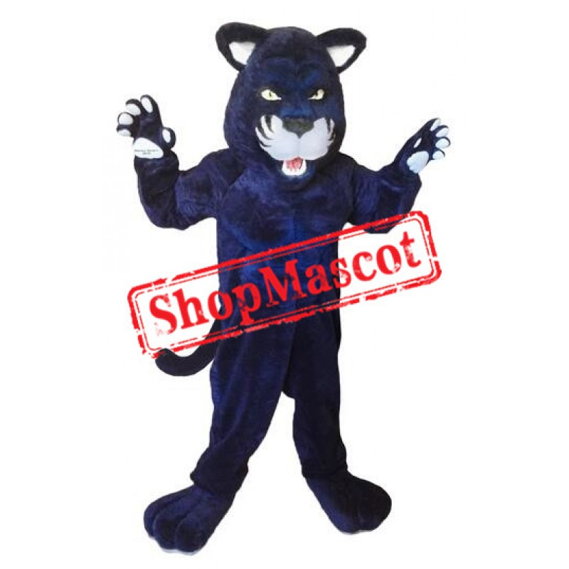 Fierce Blue Panther Mascot Costume