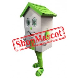 Green Lightweight House Mascot Costume