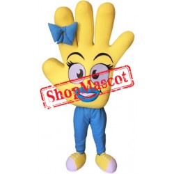 Yellow Hand Mascot Costume