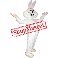 Cute Pink & White Rabbit Mascot Costume