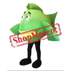 Green Lightweight Fish Mascot Costume