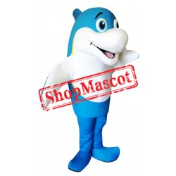 Blue & White Dolphin Mascot Costume