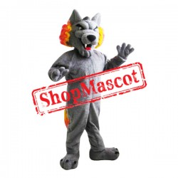 Fierce Grey Wolf Mascot Costume