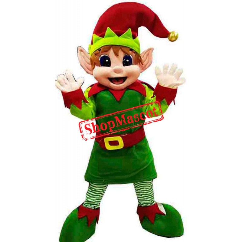 Christmas Elf Mascot Costume Free Shipping