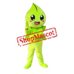 Green Water Drop Mascot Costume